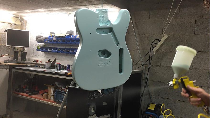 pintura guitarra