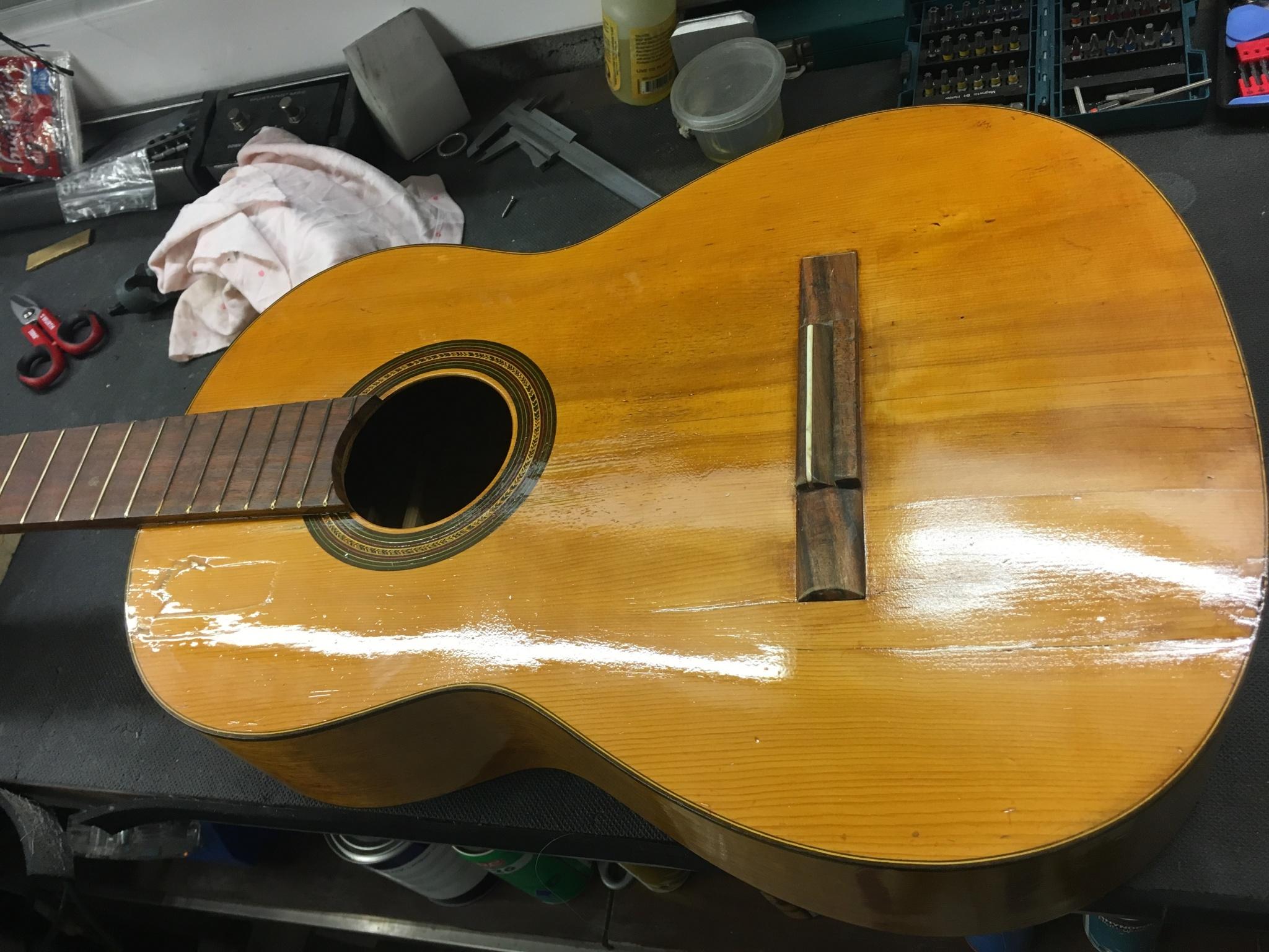 IMG 3557 - Reparación guitarra Española de mas de 60 años