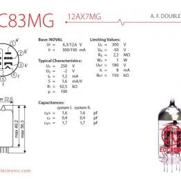jj ecc83 mg 12ax7 mg 2 542 p 262x262 - 12AX7 / ECC83 MG JJ