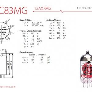 jj ecc83 mg 12ax7 mg 2 542 p 300x300 - 12AX7 / ECC83 MG JJ