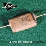 luxe radio 1952 1958 stratocaster precision bass pio capacitors 01uf 1mfd 160x160 - Condensador LUXE RADIO - Phone Book Papel en aceite  0.1uF Condensador Stratocaster&PrecisionBass