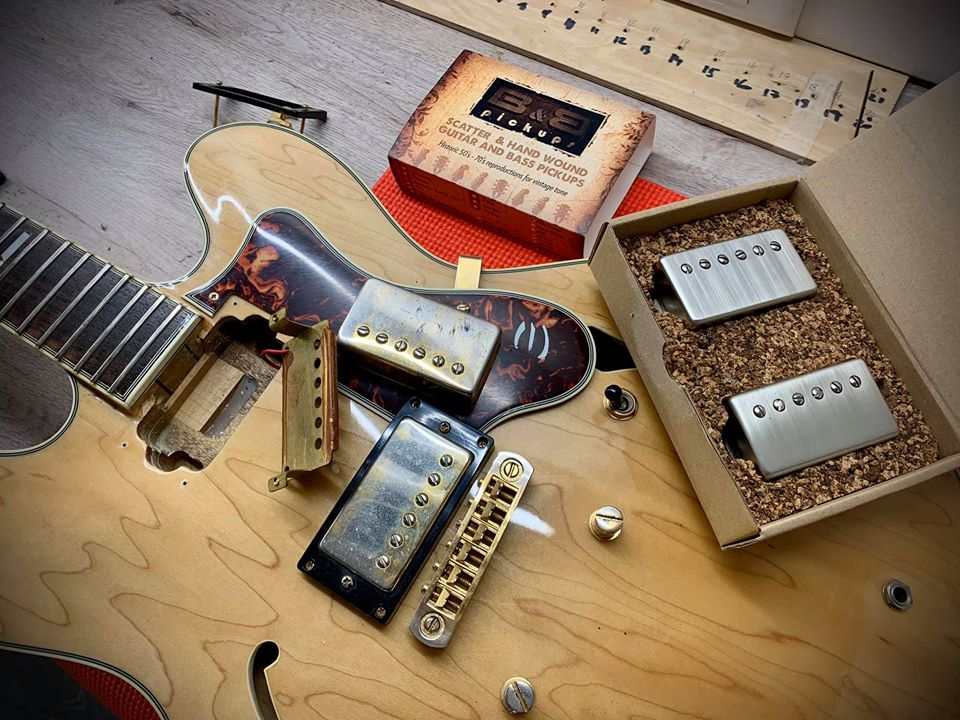 86742760 2890280974396078 8485478384611098624 o - Sustitución Pastillas Epiphone Gibson por B&B Pickups